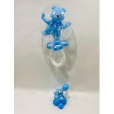 Deco Rattle Teddy (Blue)