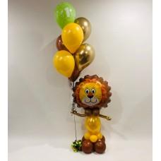 Lion Sculpture Holding A Bouquet