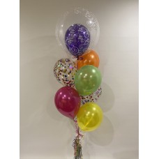 Happy Birthday Deco Bubble, Colourful Confetti and Latex