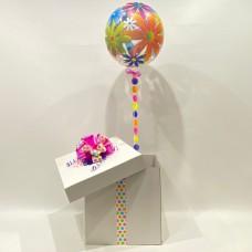 Bright Flower Deco Bubble Balloon in a Box