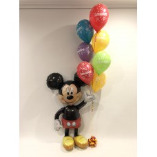 Mickey Mouse Airwalker and Congratulations Bouquet