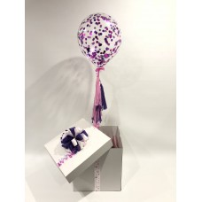 Confetti Balloon in a Box With Tassels