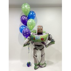Buzz Lightyearl Airwalker and Birthday Bouquet