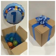 Baby Boy First Birthday Balloon in a Box