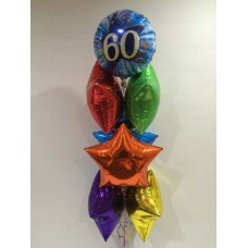 60th Foil and Stars