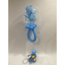 Deco Rattle Teddy (Blue)