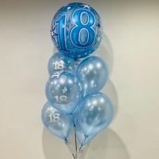 18th Deco Bubble Bouquet (Blue)