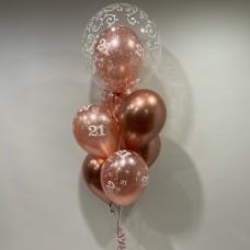 21st Deco Double Bubble & Latex (Rose Gold Theme)