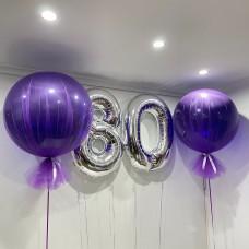 Numbers & 2 Jumbo Tulle (Purple)