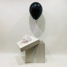 Black Gender Reveal Balloon in a Box