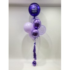 "Personalised Orb, Clearz, Chrome & 18"" Lilac"