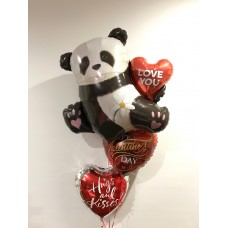 Panda Passion Valentine's Day Bouquet