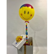 Smiley Face Deco Bubble Balloon in a Box