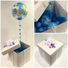 Baby Boy Deco Bubble Balloon in a Box